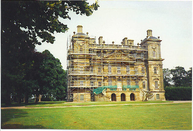 Duff House, Banff dressed in Scaffolding.