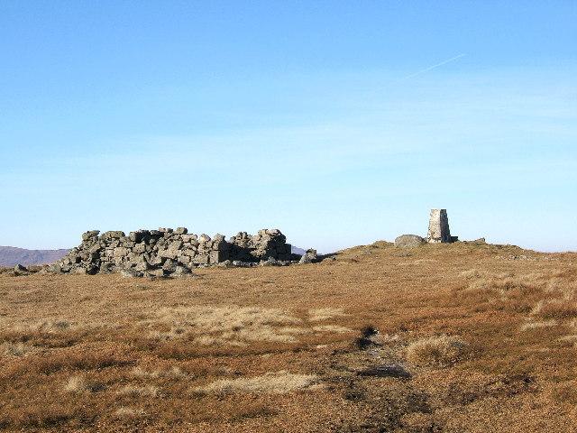 The summit of Cairnsmore of Fleet 711 metres.