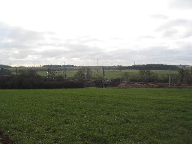 'East Coast' rail line near Carlby