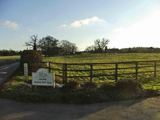 Entrance to Bayford Hall Farm, Bayford Lane, Hertfordshire