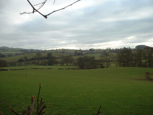 Farmland near Llanelidan