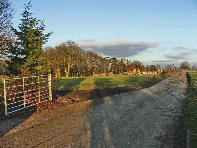 Entrance to Home Farm, off Bayford Lane, Hertfordshire