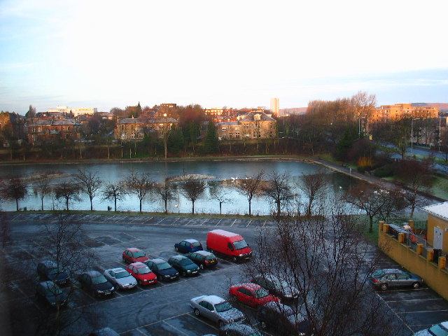 Pond view from the Jury's Hotel, Great Western Rd, Glasgow.