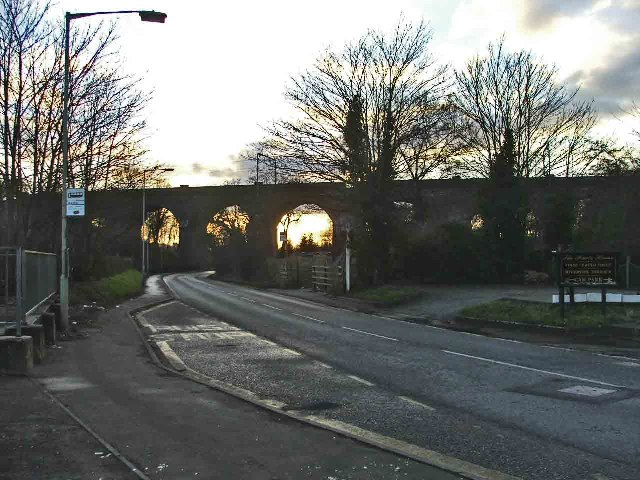 Viaduct where the railway line passes over the Hatfield Road, Hertford