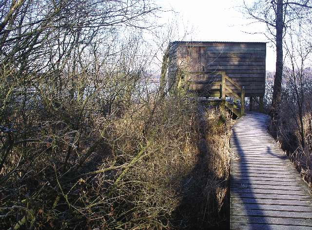 The bird hide, Castle Loch