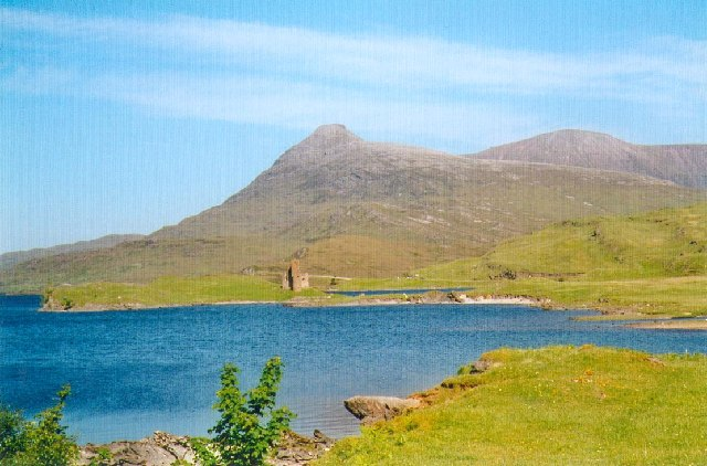Ardvreck Castle on the shores of Loch Assynt.