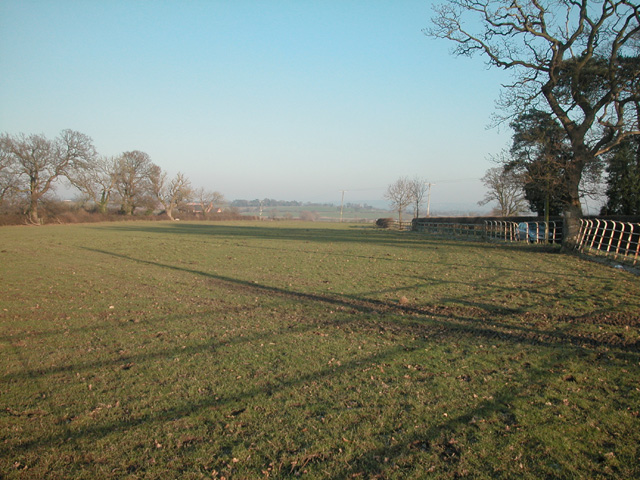 Guilden Sutton farmland