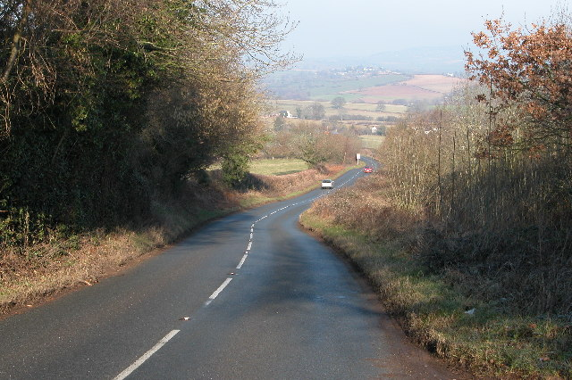 A466 to the south of Llancloudy