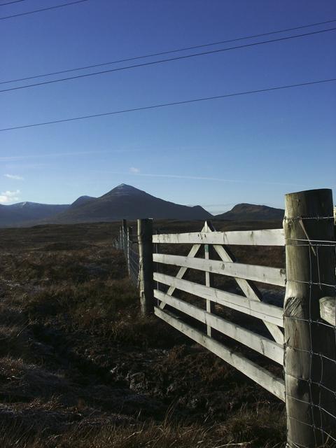 View towards Bee Tee and Meall nan Rudhag