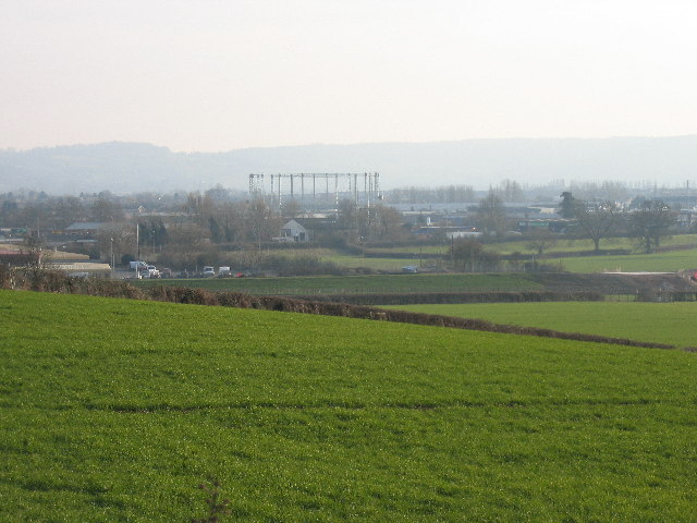Bristol Road industrial area from Hempsted Village