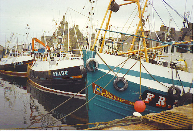 Fishing Boats in Fraserburgh Harbour.