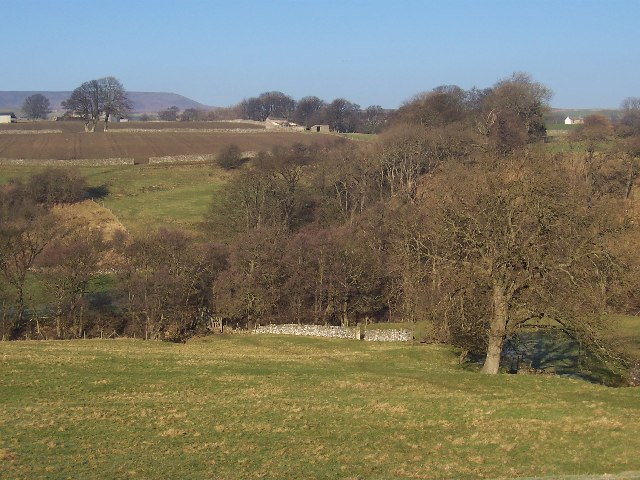 Looking down towards Caygill Foot Footbridge