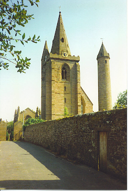 Cathedral and Celtic Round Tower, Brechin.