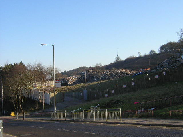 Remains of Mitchell Hill High Flats, Castlemilk