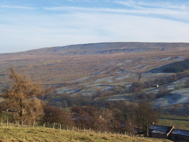 Dead Mans Hill from above Braidley