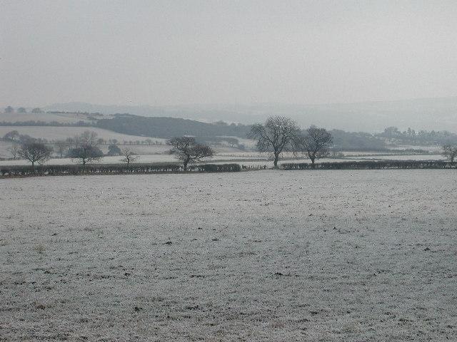 Fields on a frosty morning
