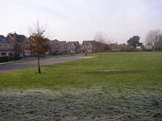 Recreation ground and houses off Grange Road, Ash, Surrey