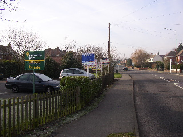 Estate agent's signs, Ash Street, Ash, Surrey