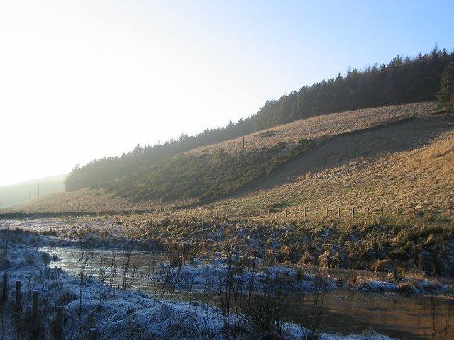 Frozen pond, Heriot.