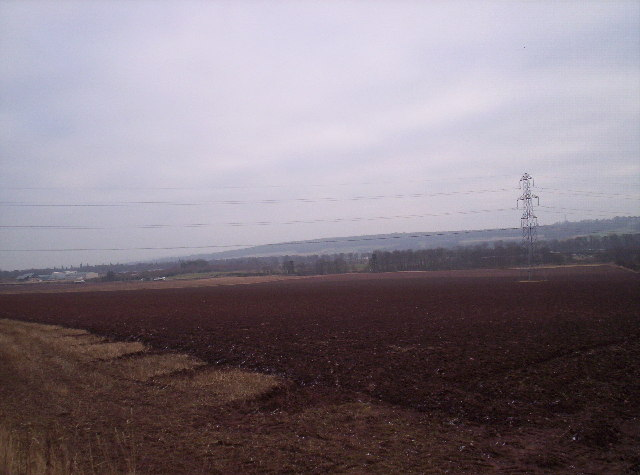 Ploughed Fields and Pylons