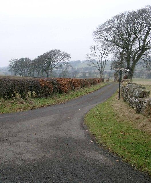 Road junction for Tweediehall