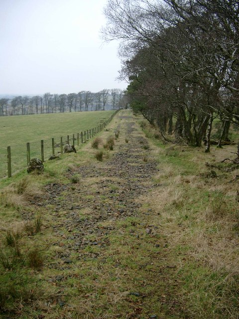 Track leading to Overhall and Tweediemill