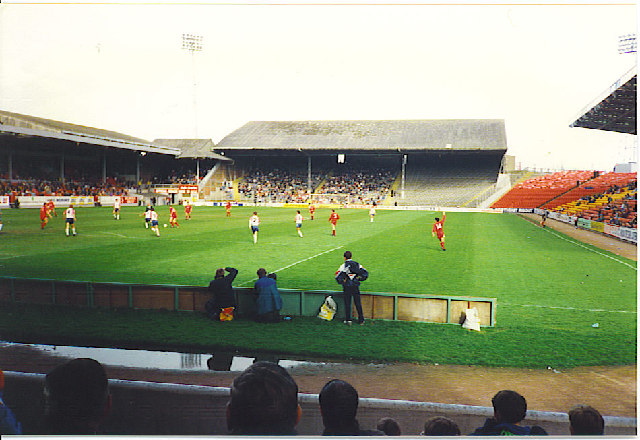The old Beach End Stand, Pittodrie.