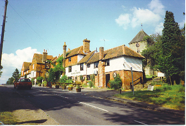 The King's Head and Church, Rudgwick.