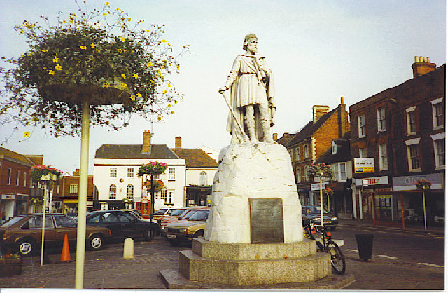 King Alfred Statue, Wantage Marketplace.