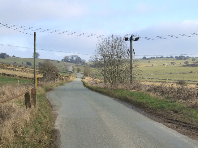 Looking east across Bonsall Moor.
