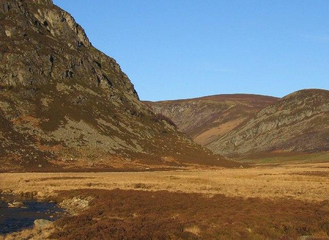 Hard Hill crag in Glen Mark