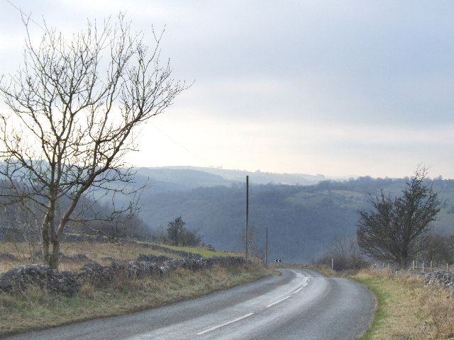 Looking over the Via Gellia from Middleton by Wirksworth.