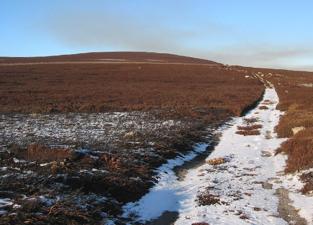 Remote track leading past Hill of Gairney
