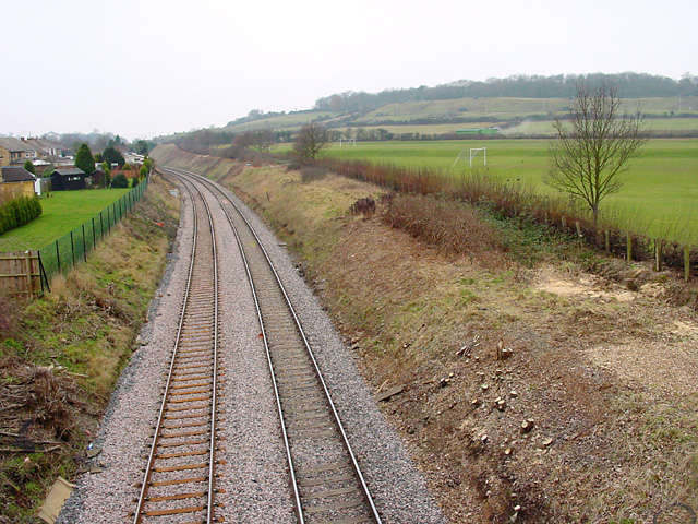 Railway track, from Station Road, Henbury