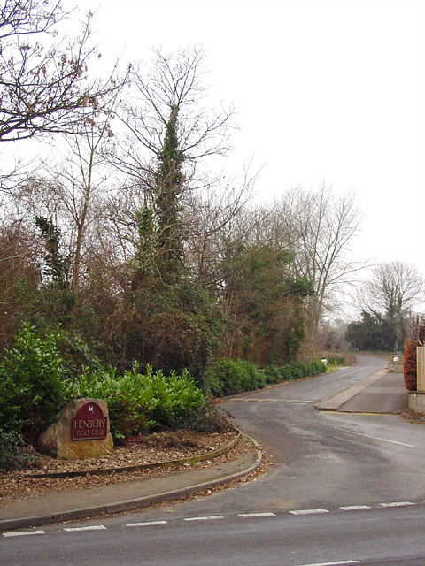 Entrance to Henbury Golf Course