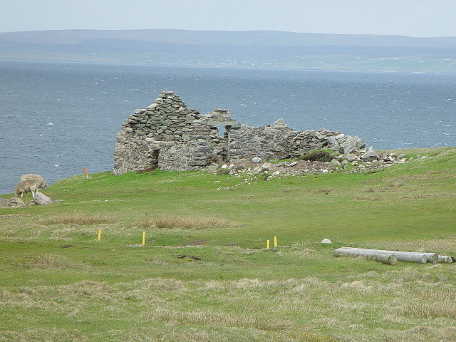 Croft House ruin, Skaw, Whalsay