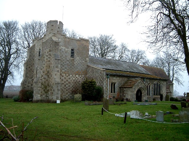All Saints, Chalgrave : Chequered Stonework