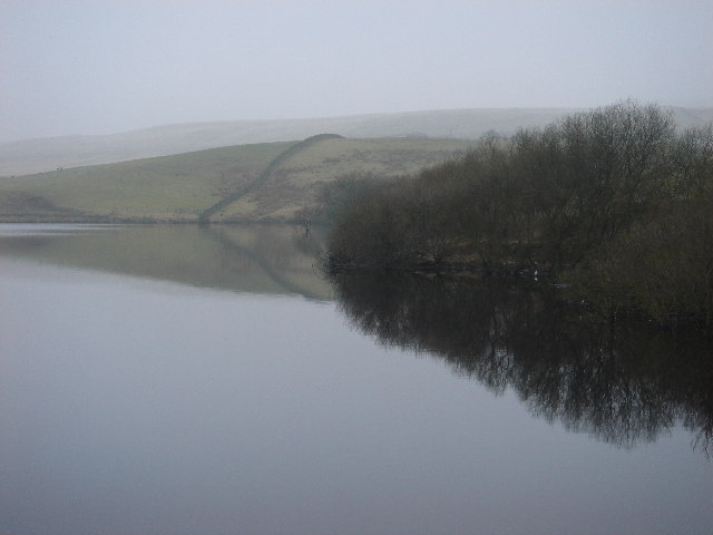 Winter reflections on Belmont Reservoir