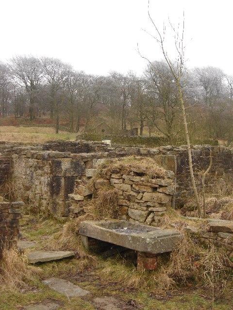 Ruins of farm buildings, Hollinshead Hall