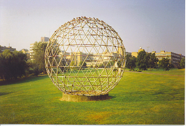Globe Sculpture at University of Surrey.