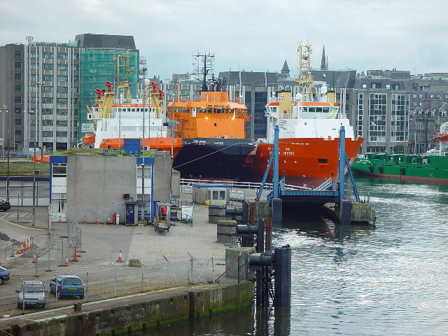 P & O Ferry Terminal and ro-ro ramp, Aberdeen harbour