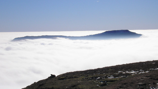Ingleborough above the clouds
