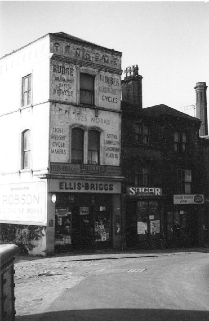 Ellis Briggs's old cycle shop, Otley Road, Shipley, Yorkshire