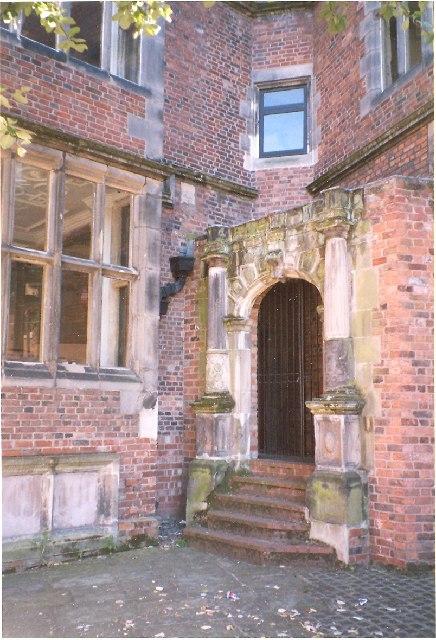 The doorway of Rowley's Mansion, Shrewsbury