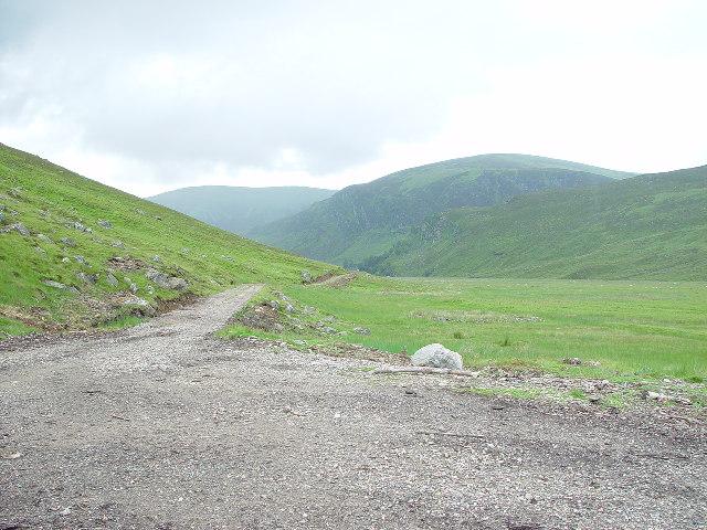 Glen Lee view SE towards Craig Maskeldie