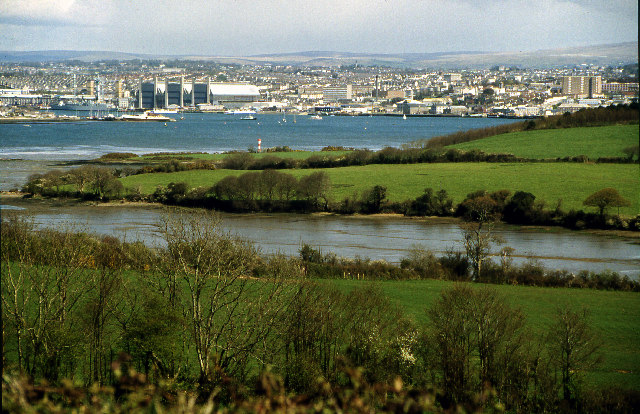 Devonport from near Millbrook, Cornwall