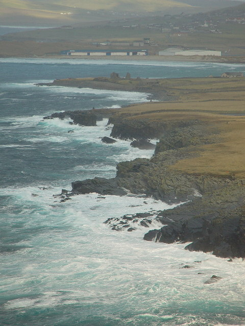 View from Sumburgh Head north to Airport and beyond