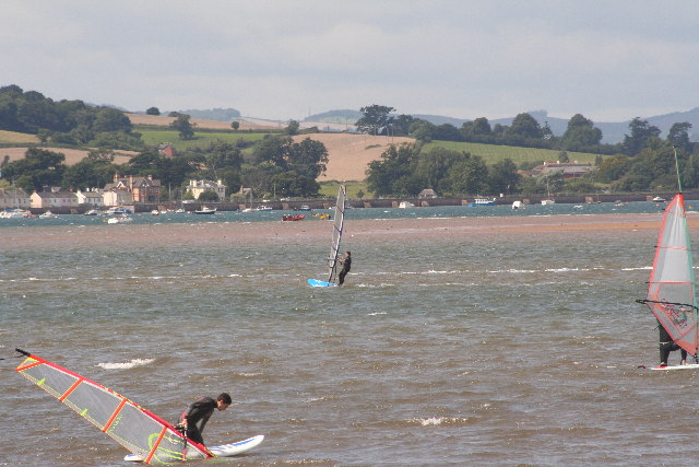 At Dockpond in Exmouth looking across to Starcross