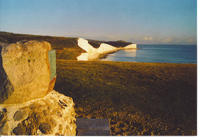 Monument at Crowlink, Seven Sisters.