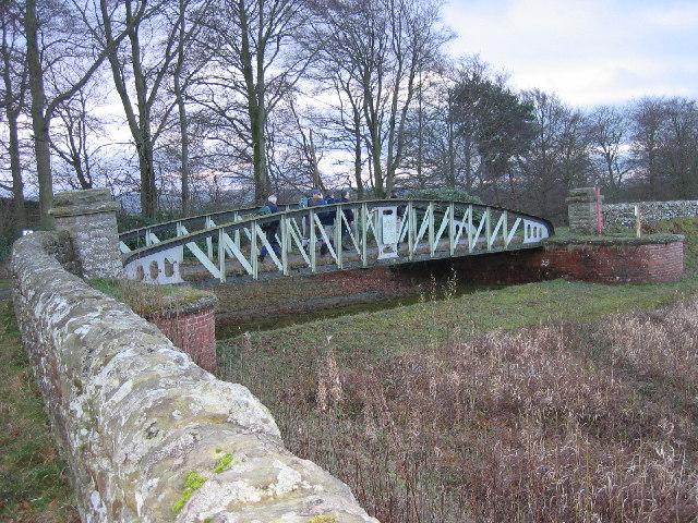 Iron Bridge over Small Burn Hallington West Reservoir